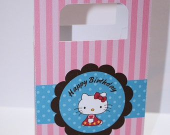 Hello Kitty Birthday Treat Boxes-Treat Box Sets-Birthday Treat Boxes-Birthday Favor Boxes-Classroom Party Boxes-Gift Boxes-Hello Kitty