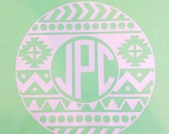Aztec Monogram Shirt