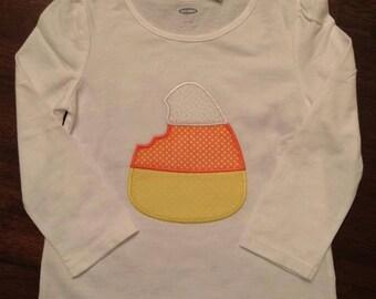 candy corn applique shirt