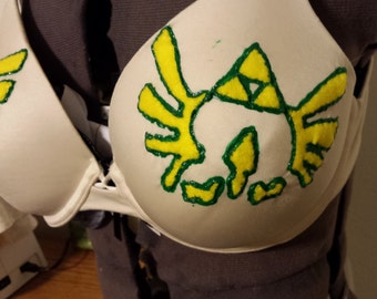 Legend of Zelda Tri Force Painted Bra MTO