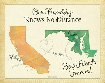 Wedding Gift For Distant Friend : Friend Long Distance Present, Going Away Gift for BFF, Sister Gift ...