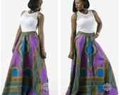 Dashiki circle maxi skirt, Angelina maxi skirt, African print maxi skirt, African Inspired Clothing, African circle skirts, African fashion