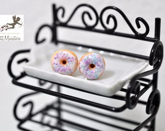 DONUT-earrings polymer clay donut with icing Fimo jewelry-collection-American Food