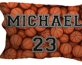 Personalized Basketball Pillowcase_perfect for the special basketball player in your life