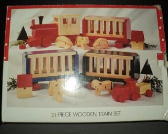 christmas- international  wood train set