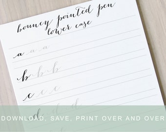 Number Names Worksheets calligraphy worksheets printable : Wedding worksheets | Etsy