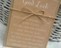 Rustic Scratch Card Holders Lottery Ticket Holder Wedding Party Favours Wedding Gifts