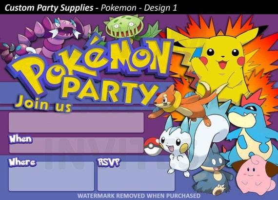 Welcome To Custom Party Supplies Check Out Our EBay Feedback Here Googl UgH4tb Pokemon Birthday Invitations Looking For