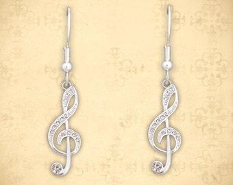 Treble Clef Earrings - 50130