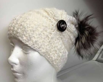 PATTERN ONLY / boss only: Crochet Hat / toque to the hook.