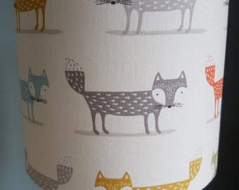 Handmade lampshade in gorgeous scandi fox design