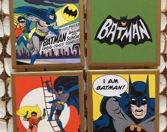 COASTERS!!! Batman coasters with gold trim