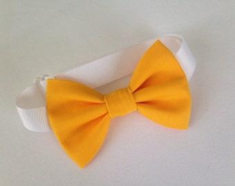 Mustard Yellow Bow Tie
