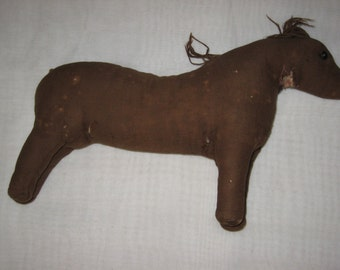 Vintage Amish Toy Cloth Horse