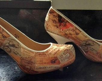 Marauder map Harry Potter high heel shoes