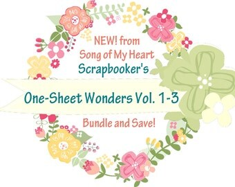 Vol. 1-3 Scrapbooker's One-Sheet Wonders BUNDLE: Instant Digital Download for scrapbooking layout, page guides, Cheat Sheets