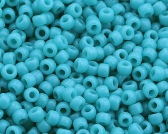 11/0 TOHO seed beads * opaque turquoise * - TR-11-55 - seed beads, 2.2 mm - 10 g