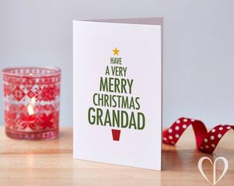 Grandad Christmas Tree Card