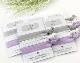 Grey and Purple Baby Shower Favors, Unique Baby Shower Favours Girl, Party Favors for Baby Shower, Girl Baby Shower Favor, Baby Shower Decor