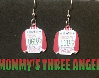 Ugly Christmas Sweater Earrings READY TO SHIP