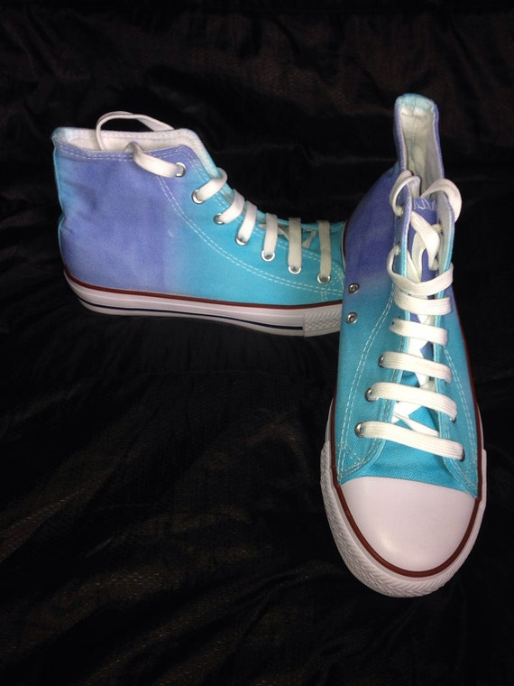 tie dye canvas shoes tie dye boots size 7 uk customised
