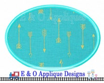 Oval Applique Design - 6 sizes included - Oval Monogram Applique - Oval Applique Patch Design - Machine Applique Design - Machine Embroidery