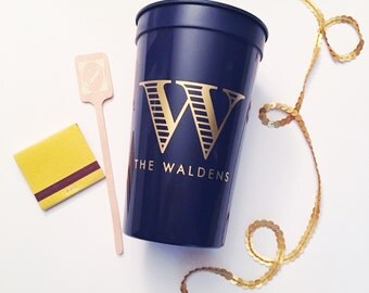 Personalized plastic cups, Wedding stadium cups, wedding cup favors, party cups, personalized cups, Custom party favor, housewarming gift