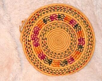 Set of 2 African Trivet Berber Plate Vintage Moroccan Trays