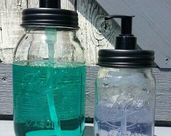 Mason Jar Soap Dispenser Set. Ball Mason Jars. Rustic Home Decor. Farmhouse Kitchen Decor. Soap Dispenser. Rustic. Kitchen. Vintage