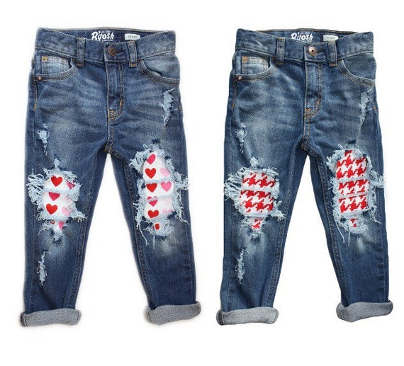 SALE!! Steal Your Heart Skinnies- unisex- Valentines Day- distressed denim