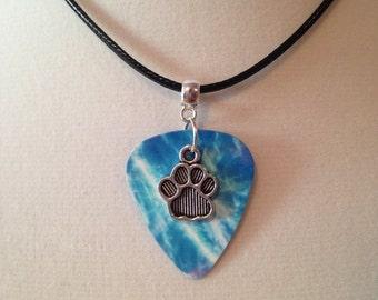 Guitar Pick Necklace Dog Paw *SALE