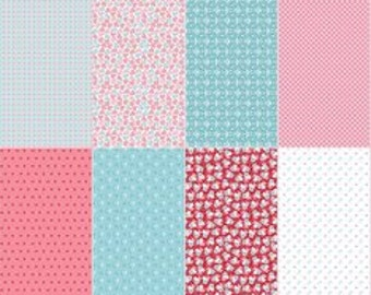 NEW - Calico Fat Eighth Panel Pink from Riley Blake Designs by Lori Holt