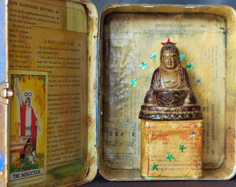 Shrine Nicho Lunchbox Buddha with Stars