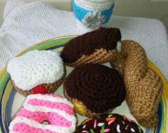 Amigurumi coffee and donuts