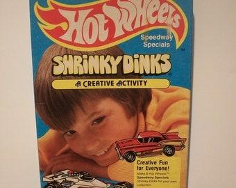 Super Cool Vintage Hot Wheels Speedway Special Shrinky Dinks - 1979