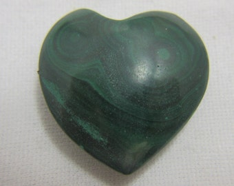Malachite Heart, Puffed Heart, Malachite Cabochon, Malachite Gemstone, Malachite Jewelry, Wire Wrap, Protection  27 x 27 x 11 mm  #851