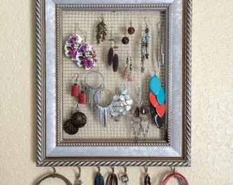 Jewelry Organizer - Earring Organizer - Necklace Organizer - Jewelry Storage - Accessory Organizer - Necklace Storage - Earring Storage