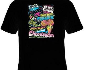 Cheerleader T-Shirts, Sports Shirt, Women's Shirt, Youth Girl's Shirt, Team Shirt, Cheerleader T-Shirt