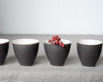 porcelain cup   black glaze