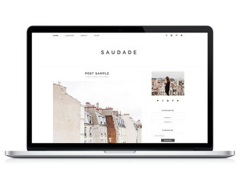 Wordpress Theme - Saudade - Responsive Wordpress Blog Design - Wordpress Template - Wordpress Theme Feminime - Wordpress Theme Modern