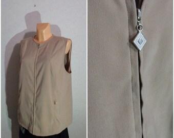 Vest #Zipper Lock #XLarge Size