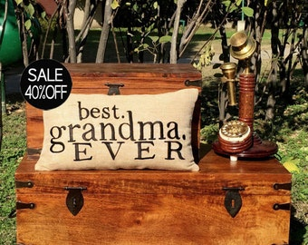 40% Off Personalized Accent Pillow, BEST GRANDMA EVER. Pillow, Gift For Grandmother Mother's father's day Gift Pillow