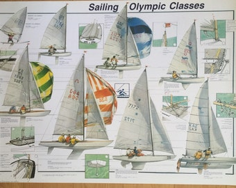Hobby Poster Chart Olympic Sailing Classes Poster 27 x 39 made in Italy