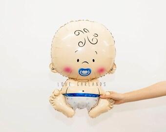 Baby Boy Balloon, Baby Boy Shower Balloon, Baby Balloon, Blue Baby Shower Balloons, Baby Boy Shower Decor, Gender Reveal Balloons
