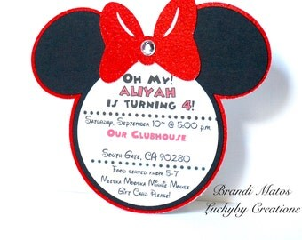 Minnie Mouse birthday, Minnie mouse party, minnie Invitations, Minnie Birthday, Minnie Mouse birthday invitations, Disney, Minnie Mouse!