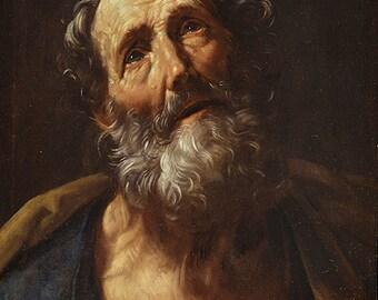 Guido Reni: Saint Peter Penitent. Fine Art Print/Poster. (002097)