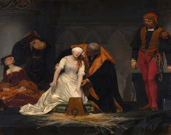 Paul Delaroche: The Execution of Lady Jane Grey. Fine Art Print/Poster (00598)