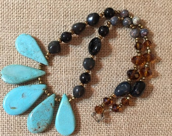 """Turquoise Fun. 20"""" Necklace with Clasp."""