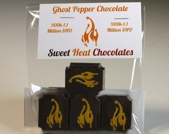 Ghost Pepper Dark Chocolate 4pc