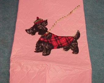 Appliance Cover With Scottie Dog Pink Plastic For Mixer